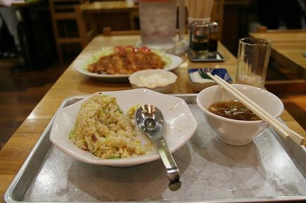 大沢食堂のチャーハンとスタミナ単品