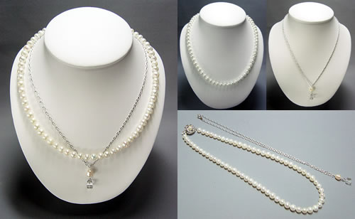 淡水真珠のネックレスセット写真1