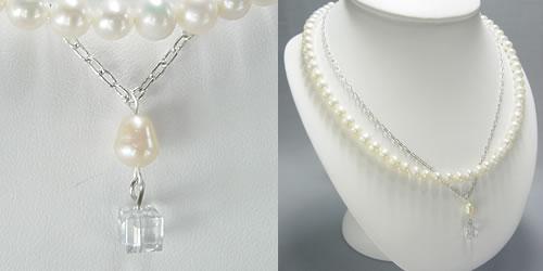 淡水真珠のネックレスセット写真2