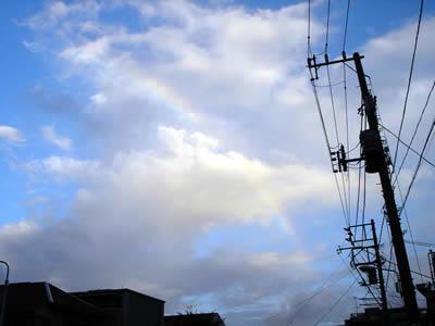 虹がでていた